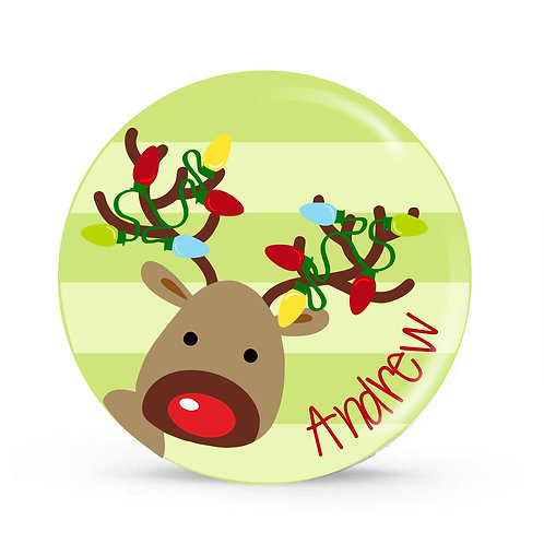 Reindeer - Personalized Christmas Plate