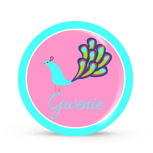 Peacock - Personalized Plate For Kids