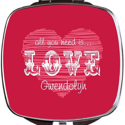 Love - Personalized Compact Mirrors