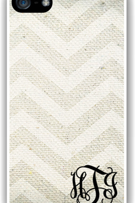 Linen Chevron - Personalized iPhone 6 Case