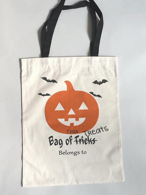 Jack O' - Personalized Canvas Halloween Tote