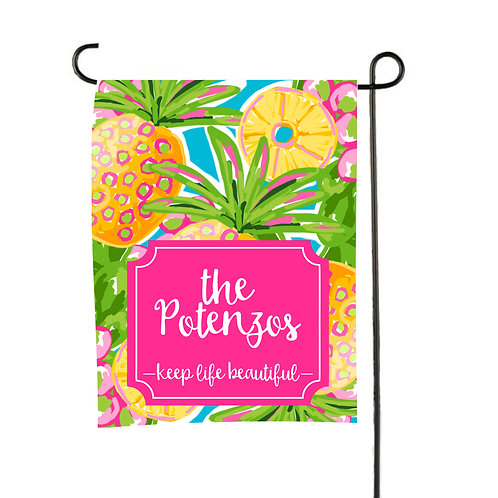 Pineapple  - Personalized Garden Flag
