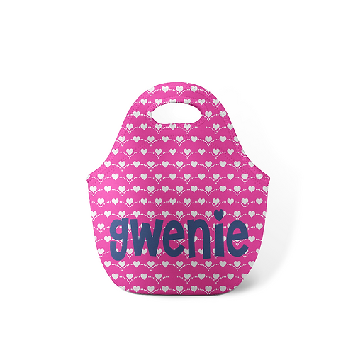 Hearts - Personalized Lunch Tote