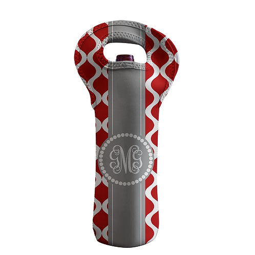 Red Trellis- Personalized Wine Bottle Tote