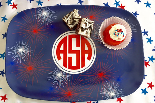 Fireworks - Personalized July 4th Platter