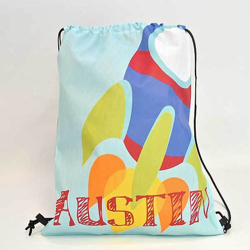 Rocket - Personalized Draw String Bag