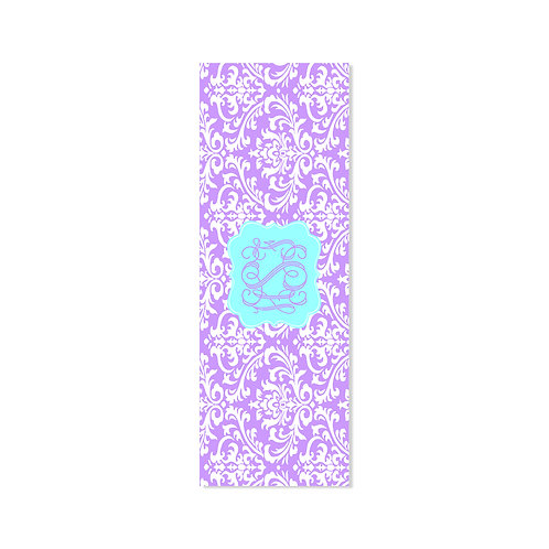 Damask Violet - Personalized Monogram Yoga Mat