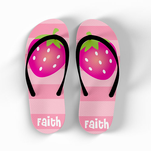 Strawberry - Personalized Flip Flops