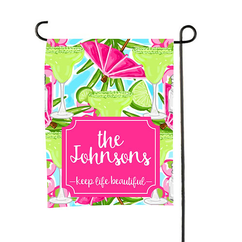 Marigrita Beach - Personalized Garden Flag