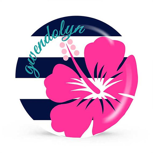 Hibiscus - Personalized Plate For Kids