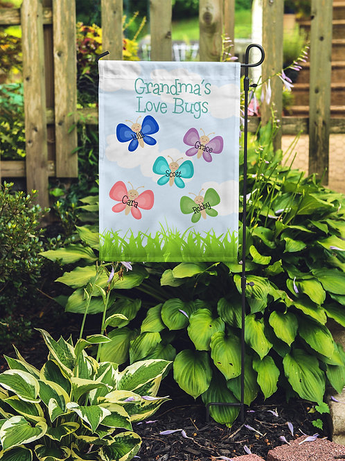 Love bugs - Personalized Garden Flags