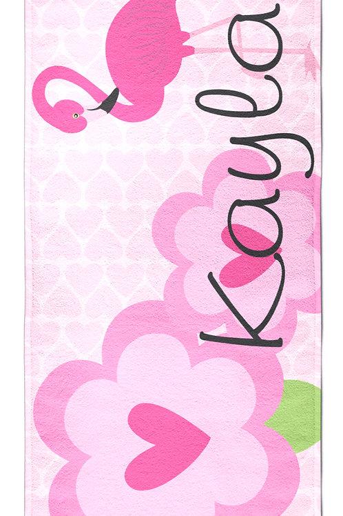 Flamingo - Personalized Beach Towel
