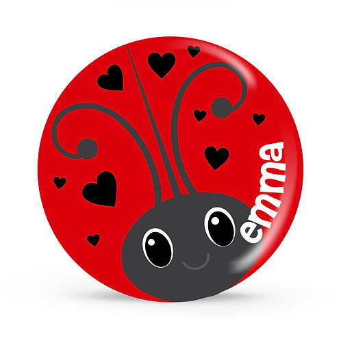 Lady Bug - Personalized Valentines Plate For Kids