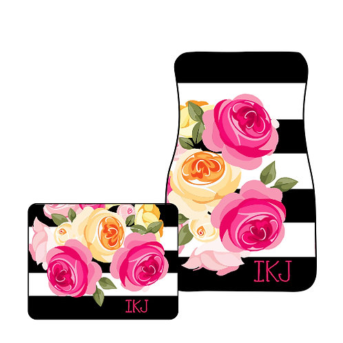 Roses- Personalized Car Mats