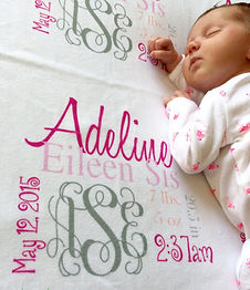 monogram gifts for baby