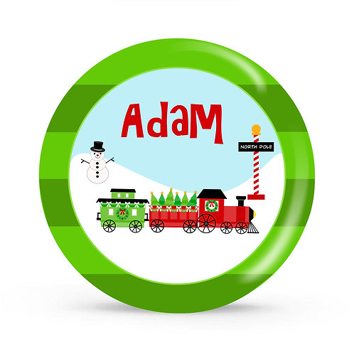 Polar Express - Personalized Christmas Plate