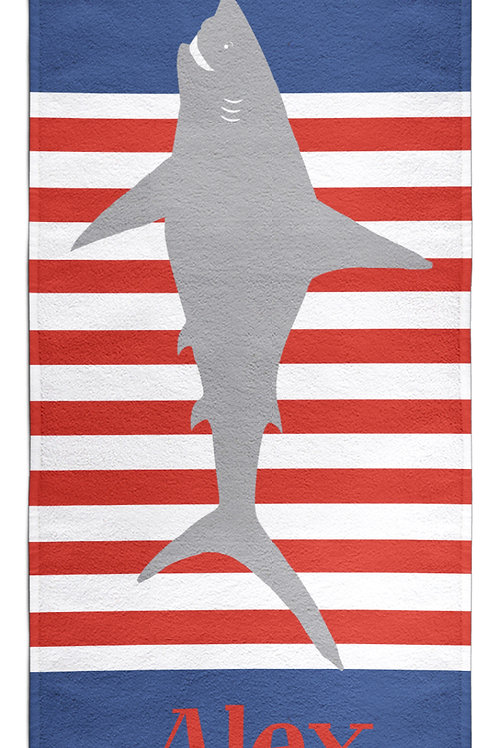Great White - Personalized Beach Towel