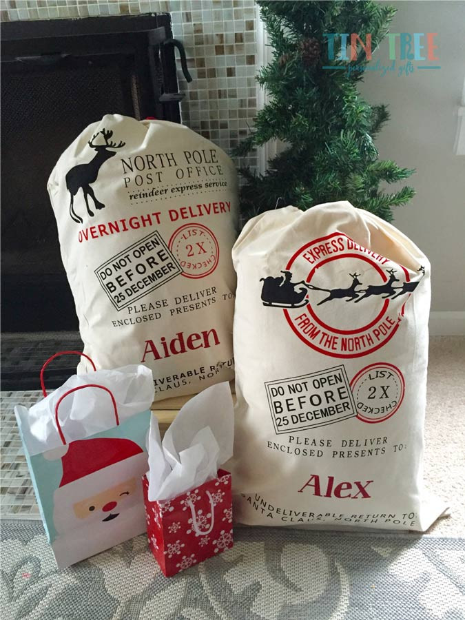 Personalized Santa Sacks
