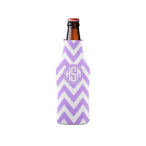 Lilac Chevron - Personalized Bottle Insulator