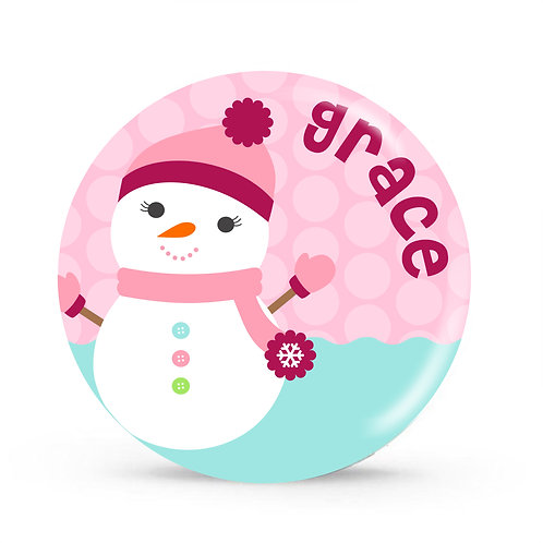Snowman - Personalized Christmas Plate