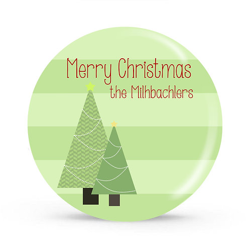 Trees - Personalized Christmas Plate