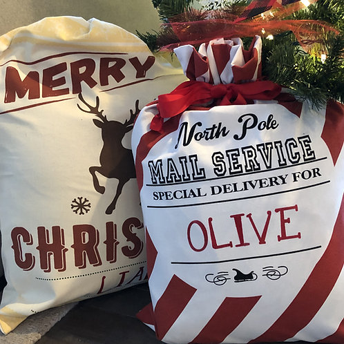 Personalized Santa Sacks - Christmas Gift Sacks for Kids