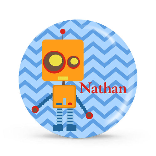 Robot- Personalized Plate For Kids