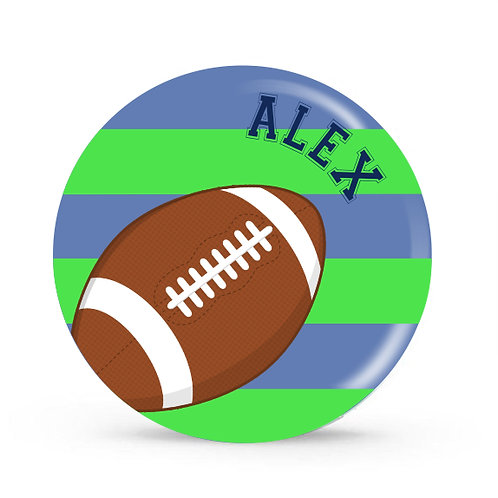 Football - Personalized Plate For Kids