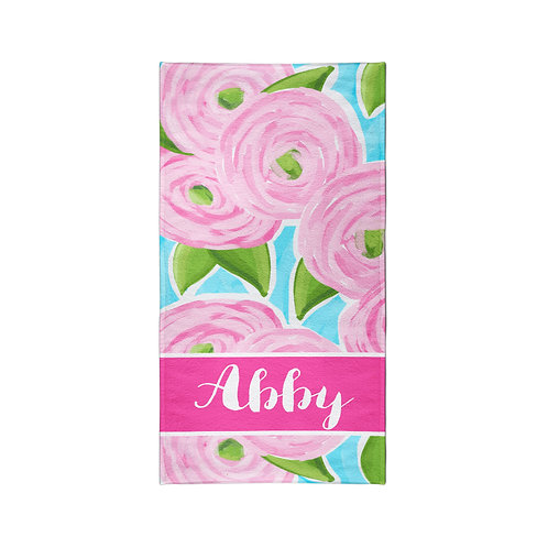 Roses - Personalized Beach Towel