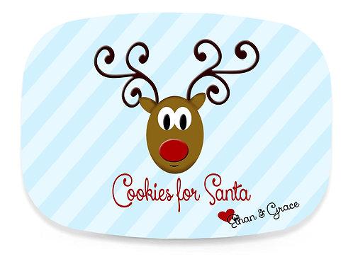 Reindeer - Personalized Christmas Platter