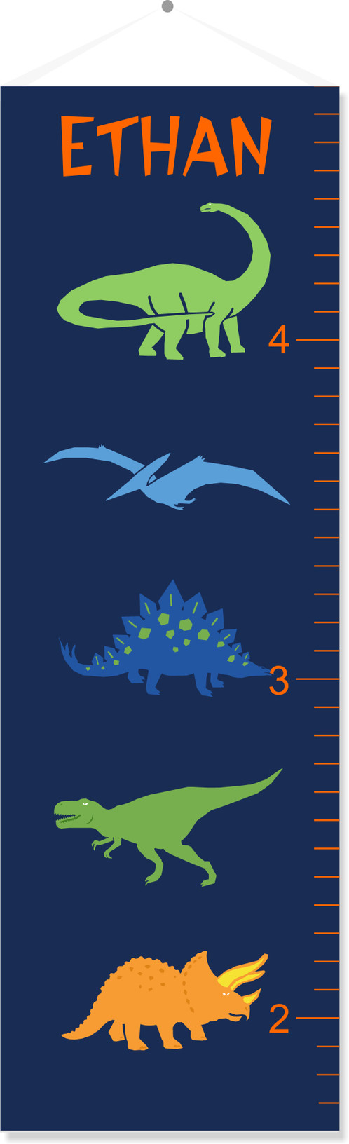Dinosaur personalized growth chart personalized gifts aurora watch your little one grow and keep track of their progress in style with personalized canvas growth charts from tin tree gifts our canvas growth charts nvjuhfo Gallery