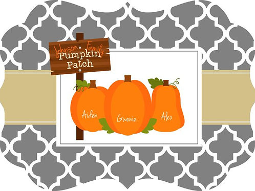 Pumpkin Patch  - Personalized Benelux wall sign
