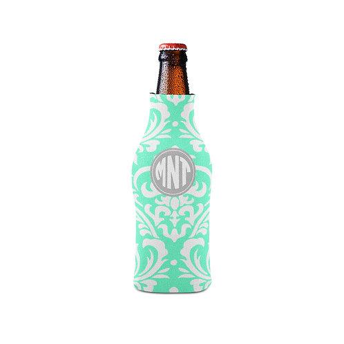 Aqua Damask - Personalized Bottle Insulator