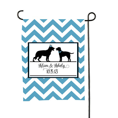Puppy Love  - Personalized Garden Flags