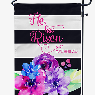 Personalized easter gifts he has risen easter garden flag negle Image collections