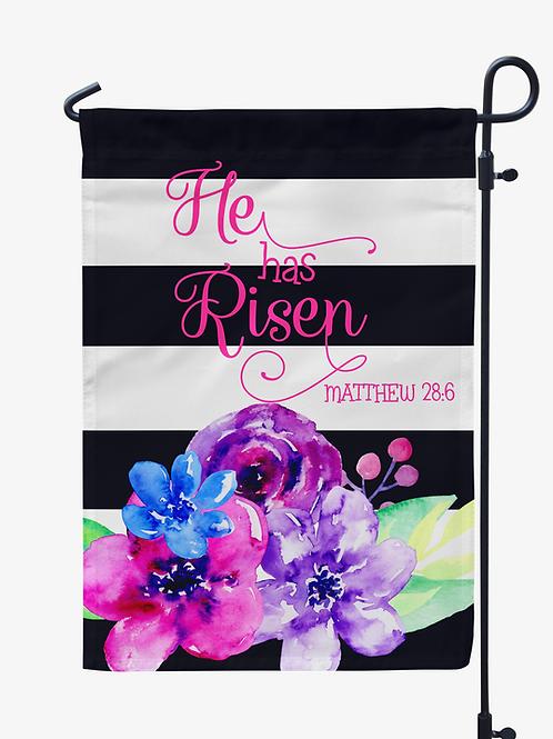 He Has Risen - Easter Garden Flag