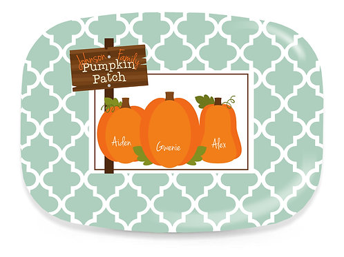 Pumpkin Patch - Personalized Fall Platter