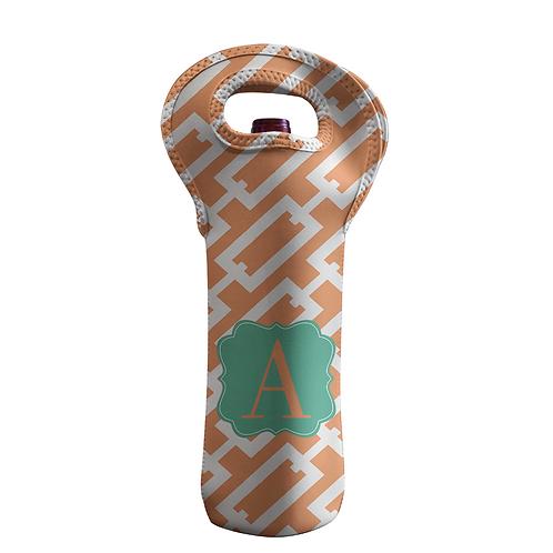 Orange Chain - Personalized Wine Bottle Tote