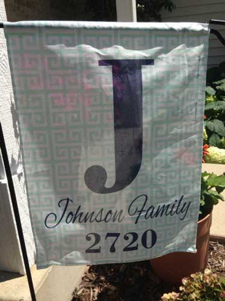 Greek Key - Personalized Garden Flags