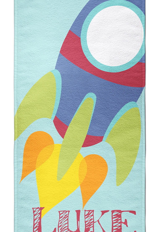 Rocket - Personalized Beach Towel