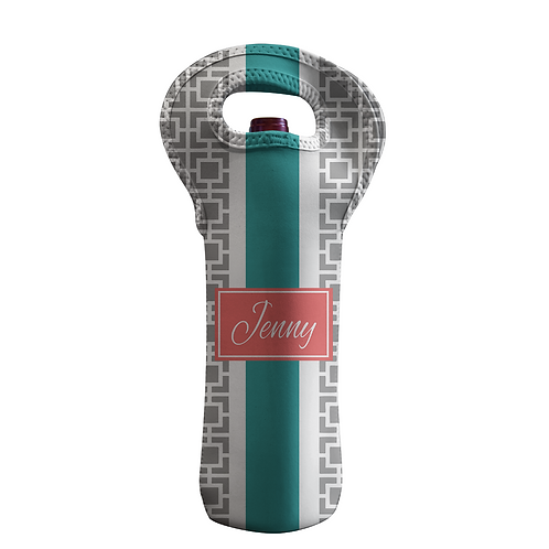 Classic Trellis - Personalized Wine Bottle Tote