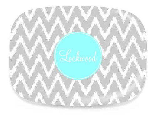 Gray iKat  - Personalized Platter