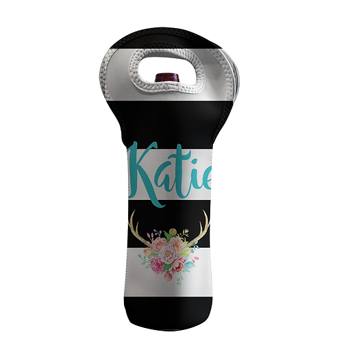 Katie - Personalized Wine Bottle Tote
