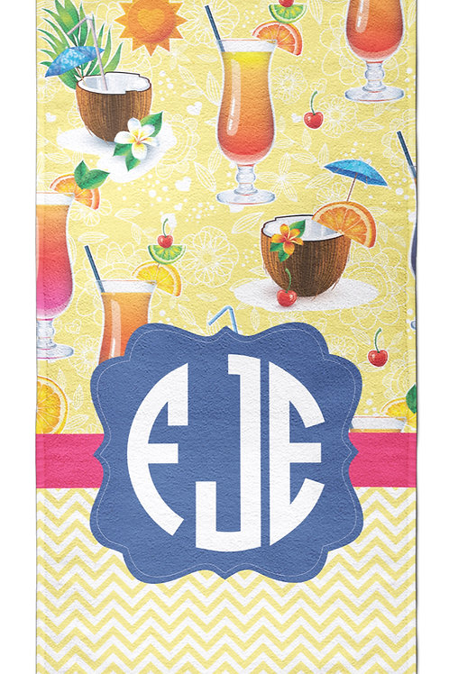 Cocktail Party - Personalized Beach Towel