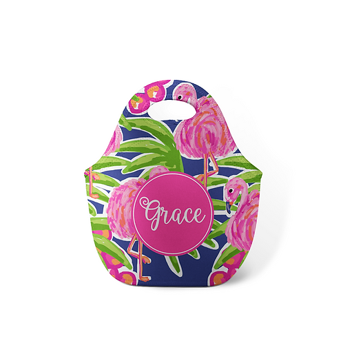 Flamingo - Personalized Lunch Tote