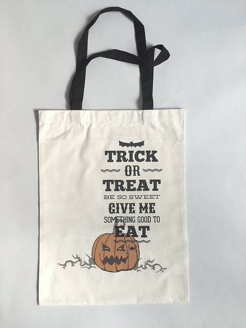 Candy Pumpkin - Personalized Canvas Halloween Tote