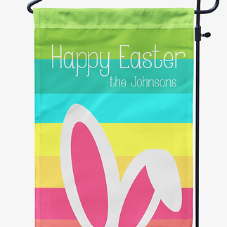 Personalized easter gifts bunny ears easter garden flag negle Image collections