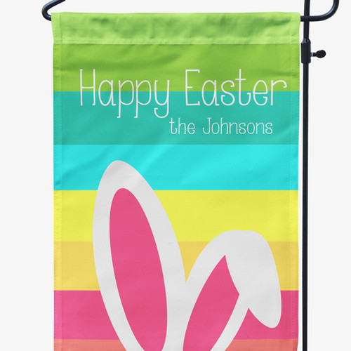 Personalized easter gifts bunny ears easter garden flag negle Images