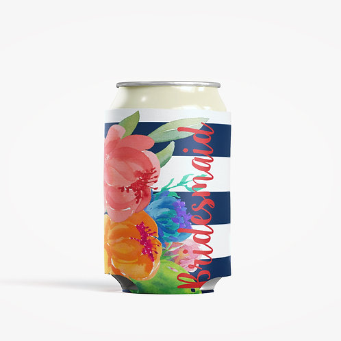 Water Color  - Personalized Can Insulator Coolie