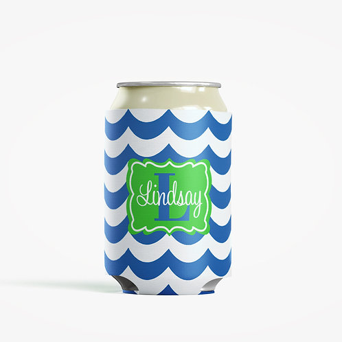 Waves - Personalized Can Insulator Coolie